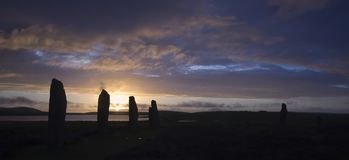 brodgar orkneys звенят Шотландия Стоковая Фотография