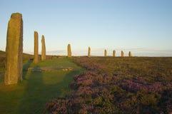 brodgar orkneys ringer scotland royaltyfria bilder