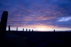 brodgar pierścienia orkneys Scotland zdjęcie stock