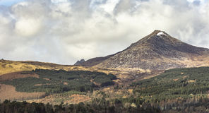 Brodick Forest & Goat Fell on the Isle of Arran. Brodick Forest & Goat Fell on the Isle of Arran in Scotland stock photography