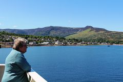 Brodick on the Isle of Arran from ferry arriving Stock Photography