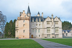 Brodie Castle. Near Forres  Morayshire, Scotland,  showing architectural details from the main drive Stock Photography