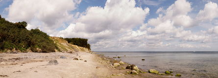 Brodtener Ufer Panorama. Panorama view of the Brodten beach at a nice summer day Royalty Free Stock Image