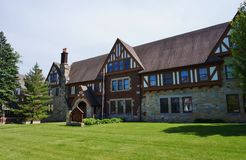 Broederlijkheid en meisjesstudentenclubhuizen bij de Universiteit van de Staat van Iowa Royalty-vrije Stock Afbeeldingen
