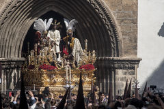 Broederschap del Carmen Painful Holy Week in Sevilla Royalty-vrije Stock Foto's