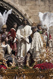 Broederschap del Carmen Painful Holy Week in Sevilla Royalty-vrije Stock Fotografie