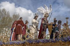 Broederschap del Carmen Painful Holy Week in Sevilla Stock Afbeeldingen