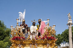 Broederschap del Carmen Painful Holy Week in Sevilla Stock Foto