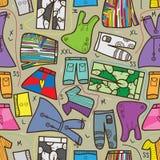Broek 9 van de Kleding van doeken trekt het Patroon van het Ontwerp Stock Afbeeldingen