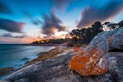Broekenpunt op Flinders-Eiland, Tasmanige stock foto