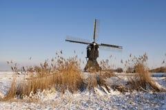 Broekmolen-Windmühle nahe Streefkerk Lizenzfreie Stockfotografie