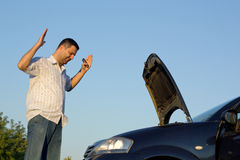Broen Car. Driver front on the car Royalty Free Stock Photo