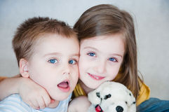 Broer en zuster Stock Fotografie