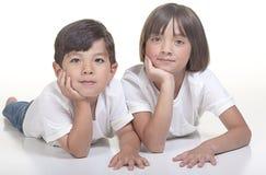 Broer en zuster. Royalty-vrije Stock Foto