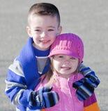 Broer en zuster Royalty-vrije Stock Foto