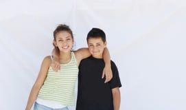 Broer en zuster. Stock Foto