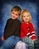 Broer en Zuster Stock Foto's