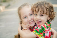 Broer en zuster Royalty-vrije Stock Fotografie