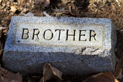 Broer Granite Gravestone Marker royalty-vrije stock afbeeldingen