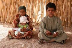 Broer met jongere zusters Stock Afbeelding