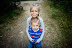 Broer And Sister Stock Foto's