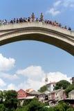 Broförkläden i Mostar Fotografering för Bildbyråer