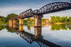 Broflod Kwai, Kanchanaburi Fotografering för Bildbyråer