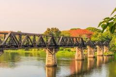Broflod Kwai, Kanchanaburi Royaltyfri Fotografi
