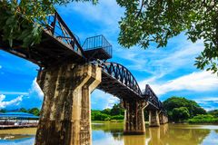 Broflod Kwai Thailand Arkivbilder