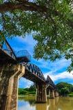 Broflod Kwai Thailand Arkivfoton