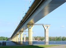 broflod russia volga Arkivfoton