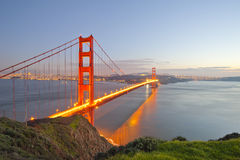 brofrancisco port guld- san USA Fotografering för Bildbyråer