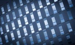 Bürogebäudefensterhintergrund Stockfotografie