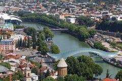 brogeorgia fred tbilisi Bron är en av nen arkivbild