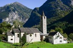 Broglio老村庄在Maggia谷的 免版税图库摄影