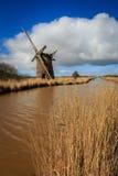 Brograve mill windpump Royalty Free Stock Photo