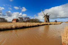 Brograve mill windpump Stock Photography