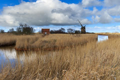 Brograve mill windpump Royalty Free Stock Photos