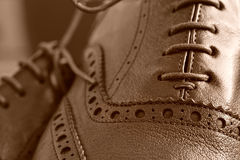 Brogues boots Stock Image
