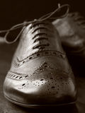 Brogues boots Royalty Free Stock Image