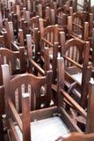 Brogujący drewniani klasyków krzesła, roczników przedmioty Obrazy Royalty Free