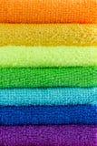 Brogujący kolorowi ręczniki Fotografia Stock