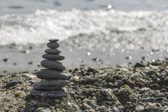 Brogujący morze kamienie Fotografia Royalty Free
