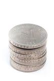 Brogujący Stare Malezja monety na białym tle Fotografia Stock
