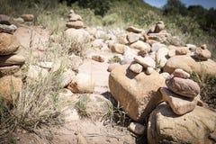 Brogujący kamienie w wsi Obrazy Stock