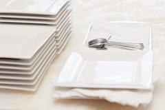 brogujący talerza kwadrat Zdjęcie Stock
