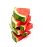Brogujący wodni melonów plasterki Zdjęcia Stock