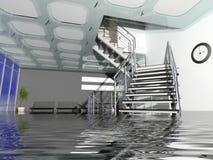 Bürohalle im Versicherungsfall Stockbilder