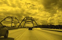 brohuvudväg Fotografering för Bildbyråer
