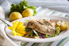 Broiled Fish stock photo
